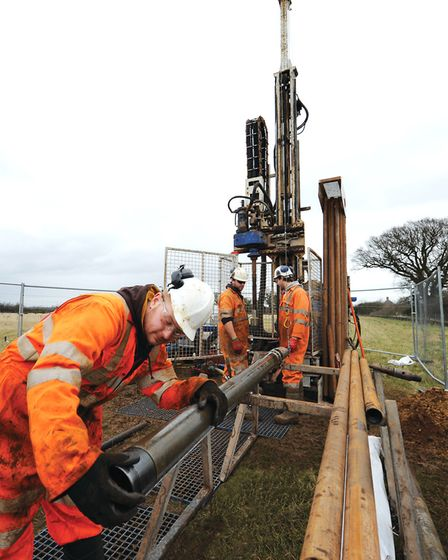 Sizewell C groundwork investigations Picture: EDF ENERGY