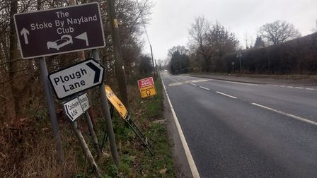 A diversion is in place via Plough Lane Picture: STOKE BY NAYLAND FACEBOOK GROUP