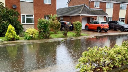 Heavy rain has caused flooding in places like Church Lane, Felixstowe - but water companies want mor