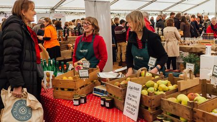 Snape Maltings Christmas Farmers' Market in 2018 Picture: Sam Murray-Sutton