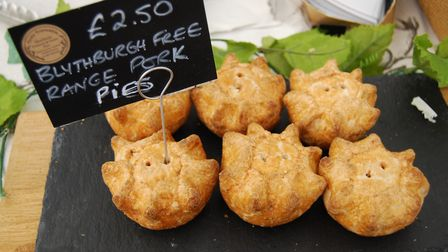 Truly Traceable pies at Snape Christmas Farmers' Market Picture: Snape Farmers' Market