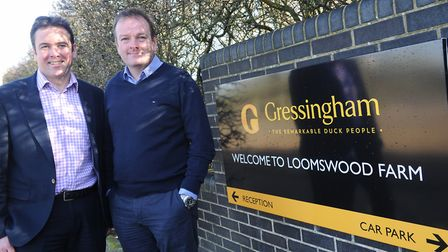 Brothers William (right) and Geoffrey Buchanan, joint managing directors of Gressingham Foods Pict