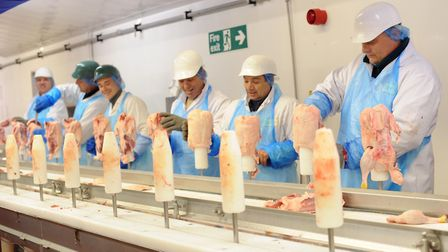 The meat processing factory at Gressingham Foods at Debach, near Woodbridge Picture: SARAH LUCY BRO