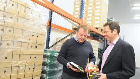 William and Geoffrey Buchanan with some Gressingham Foods products Picture: LUCY TAYLOR