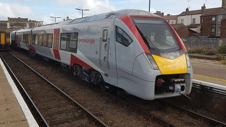 One of Greater Anglia's new Stadler trains. Picture: PAUL GEATER