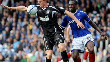 Connor Wickham, back in Town action after injury with a cameo role during the 0-0 draw at Portsmouth