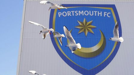 Seagulls circling over Fratton Park, home of Portsmouth Football Club. Picture: PA SPORT