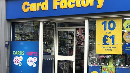 Card Factory shops across Suffolk and Essex are hiring Picture: NEIL PERRY