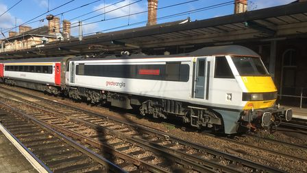 The carriages on Greater Anglia's current Intercity services have to be serviced a Bounds Green in L