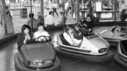 People of all ages having a go on the dodgems at the Hadleigh Show Picture DAVID KINDRED