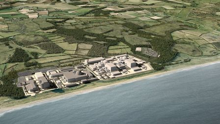 An artist's impression of what Sizewell C will look like. Final plans are set to be submitted in 202