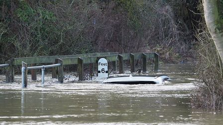 The car was still stuck as of December 22, more than 24 hours after the car became stuck in Rectory