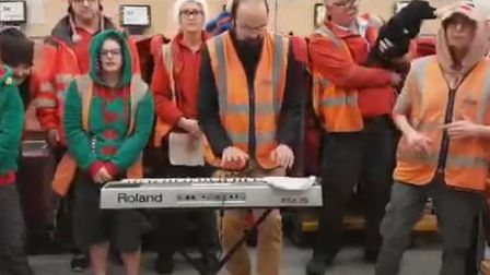 Leiston and Aldeburgh posties come together to sing a special version of 'Fairytale in New York' Pi