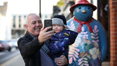 Walking with the Snowman trail in Middlesbrough Picture: DAVID CHARNLEY PHOTOGRAPHY
