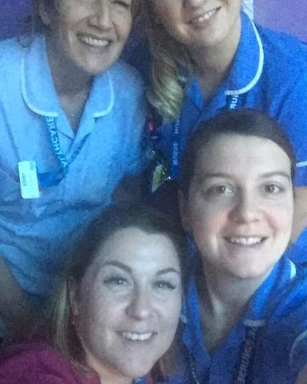 Nurses are also working hard this Christmas on the Somersham Ward at Ipswich Hospital. Picture: VAL