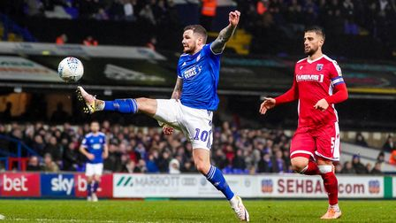 James Norwood at full stretch as he tries to get on the end of a Kayden Jackson cross.Picture: St