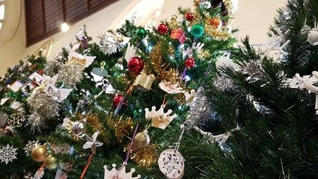 Stowmarket Christmas Tree Festival at St Peter and St Mary's Church Picture: RACHEL EDGE