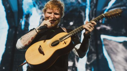 Ed Sheeran performing at his homecoming gigs at Ipswich's Chantry Park in 2019. Picture: Zakary Walt
