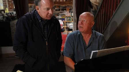Neil Innes, at the piano, with his producer Matthew Townshend in 2011. Star Wars star Mark Hamill ha