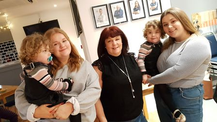 Angela with her daughters and grand-daughters Picture: RACHEL EDGE