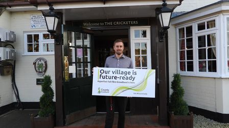 Matthew Allum, landlord at The Cricketers pub in Eight Ash Green near Colchester, is one of the 10,0