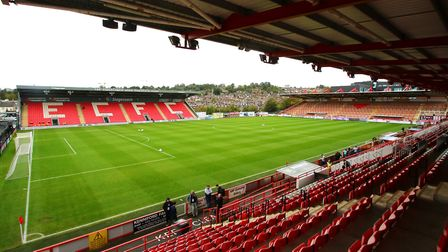Exeter City play at St James Park. Photo: PA