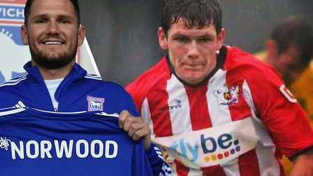 Ipswich Town striker James Norwood, pictured during his time at Exeter. Picture: ARCHANT