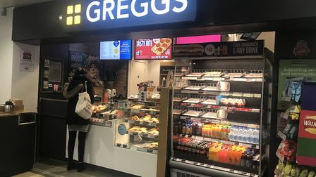 Greggs at Ipswich Town Station. Their vegan sausage rolls hit the headlines. Picture: ARCHANT