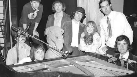 Neil Innes was often called 'The Seventh Python'. This is the cast pictured before Monty Python's Fl