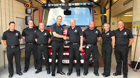 Suffolk Fire and Rescue Service has been rated 'good' in its latest government inpection report Pic
