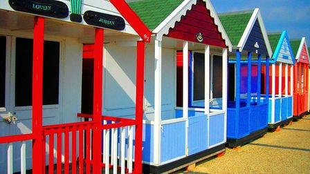 Southwold's beach huts catch the eye in the sun Picture: ARTIST REMRAF/CITIZENSIDE.COM