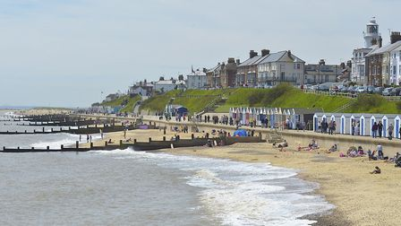 The beach at Southwold is often busy on sunny days Picture: PAUL NICHOLS/CITIZENSIDE.COM