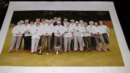 Past and present members of the Earl Stonham Bowls Club, which had to close its doors in July Pictur