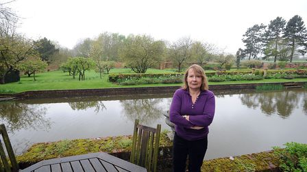 Lady Valerie Hart in the grounds of Chilton Hall which overlooks the proposed development off Waldin