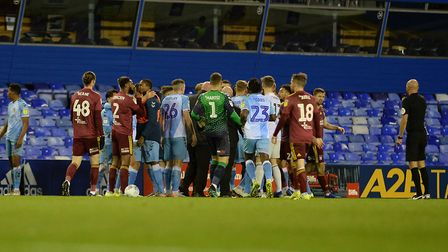 Ipswich Town and Coventry City have been fined by The FA after this incident earlier in the month