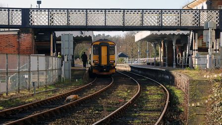 The landslide happened near Woodbridge and services from the station to Ipswich have been affected (
