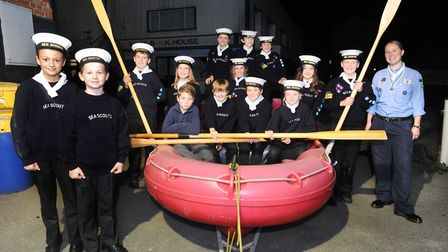 Thomas Hilton and Adam Smith of the 5th Woodbridge Sea scouts who help to rescue a dog from the rive