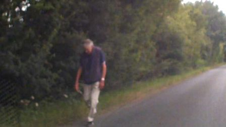 Dash-cam footage of Mr Nunn walking along Lovers Lane was released by police as the search continued