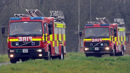Two fire crews attended the incident in Aldecar Lane, Benhall, this morning Picture: PHIL MORLEY