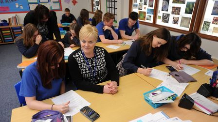 Karen Grimes at the school during her tenure as headteacher. Picture: PHIL MORLEY