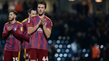 Emyr Huws applauds the travelling support at Wycombe Wanderers. Picture Pagepix