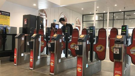 Ticket barriers at Ipswich Station Picture: NEIL PERRY