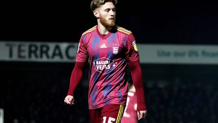 Teddy Bishop pictured during Town's 1-1 draw with Wycombe Wanderers on New Years Day Photo: ROSS HAL
