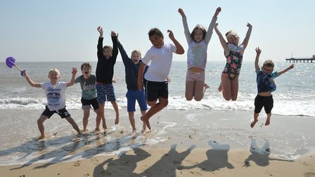 Children enjyoing the hot weather in Felixstowe - in April Picture: SARAH LUCY BROWN