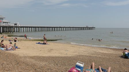 July 2019 saw a heatwave, with people heading for Felixstowe to soak up the sun. Picture: SARAH LUC