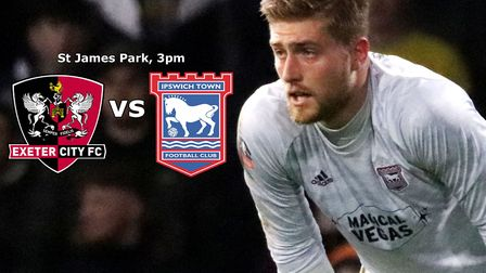 Ipswich Town are in action against Exeter City this afternoon