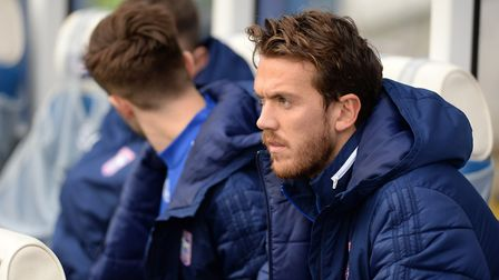 Emyr Huws pictured on the Ipswich Town bench. Photo: Pagepix