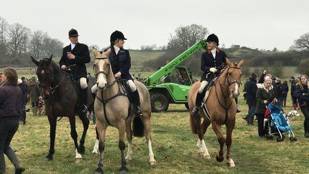 A Boxing Day hunt is a traditional practice and social occasion for many rural residents in Suffolk