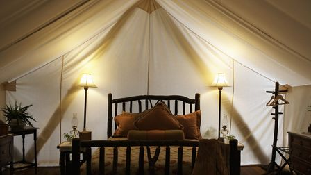 The inside of a glamping tent. File photo Picture: GETTY IMAGES