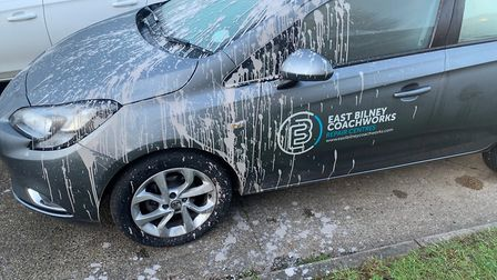 The most recent incident saw the courtesy car Miss Humpage was driving targeted with paint. Picture